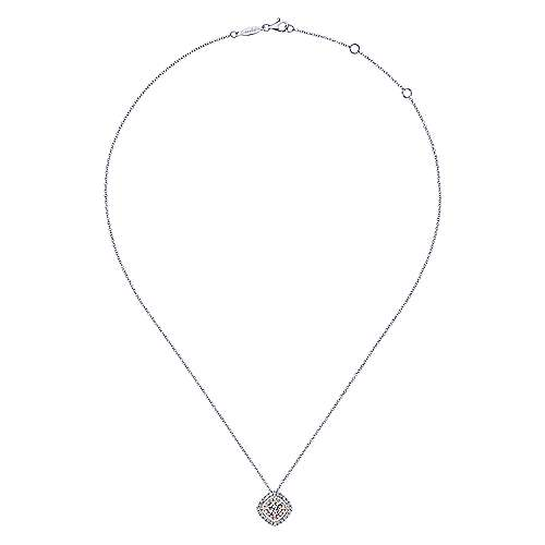 14k White/rose Gold Messier Fashion Necklace angle 2
