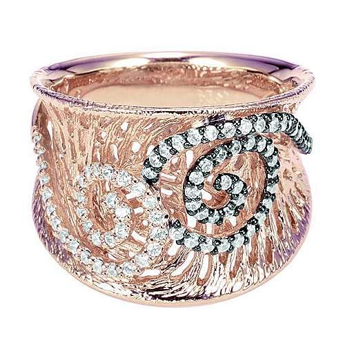 Gabriel - 14k White/rose Gold Nature Fashion Ladies' Ring