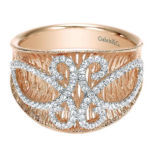 Gabriel - 14k White/rose Gold Nature Fashion Ladies' Ring