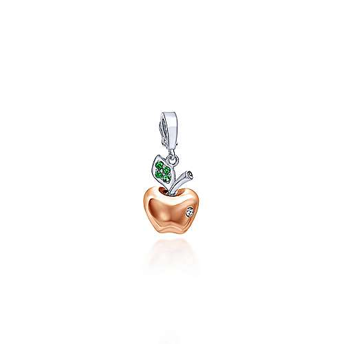 Gabriel - 14k White/rose Gold Treasure Chests Charm Pendant