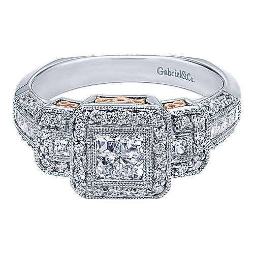Gabriel - 14k White/rose Gold Victorian Fashion Ladies' Ring