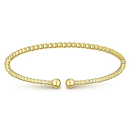 14k Yellow And White Gold Bujukan Bangle angle 1