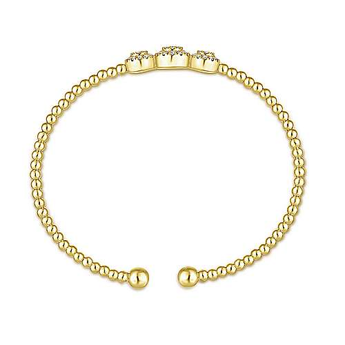 14k Yellow And White Gold Bujukan Bangle angle 3