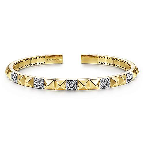 Gabriel - 14k Yellow And White Gold Demure Bangle