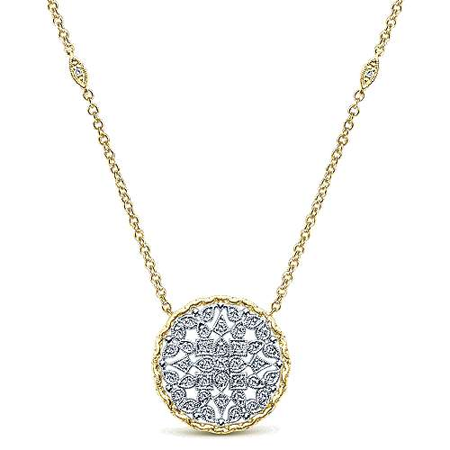 Gabriel - 14k Yellow And White Gold Endless Diamonds Station Necklace