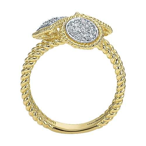 14k Yellow And White Gold Hampton Classic Ladies' Ring angle 2