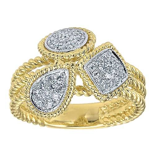 14k Yellow And White Gold Hampton Classic Ladies' Ring angle 4