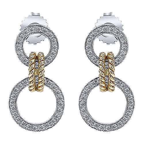 Gabriel - 14k Yellow And White Gold Hampton Drop Earrings