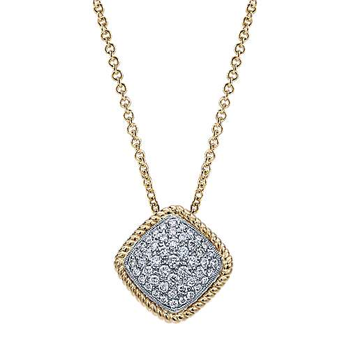 Gabriel - 14k Yellow And White Gold Hampton Fashion Necklace