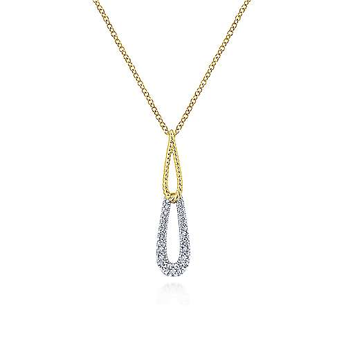 14k Yellow And White Gold Hampton Fashion Necklace
