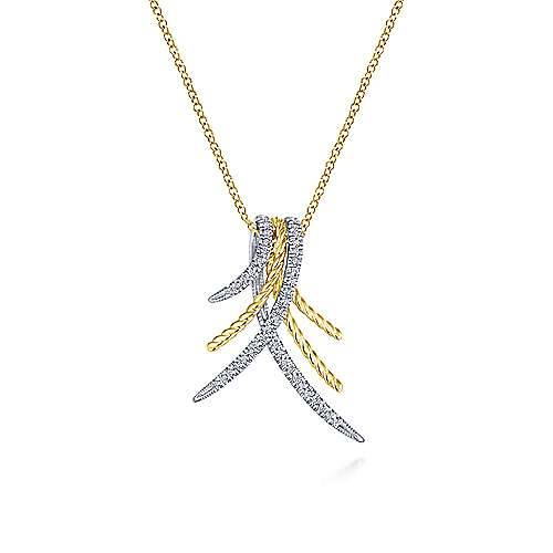 14k Yellow And White Gold Hampton Fashion Necklace