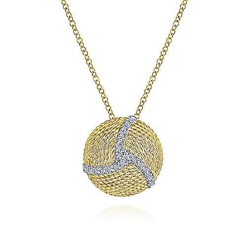 14k Yellow And White Gold Hampton Fashion Necklace angle 1