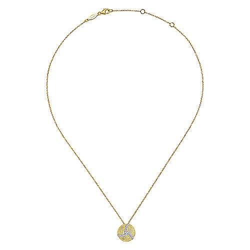 14k Yellow And White Gold Hampton Fashion Necklace angle 2