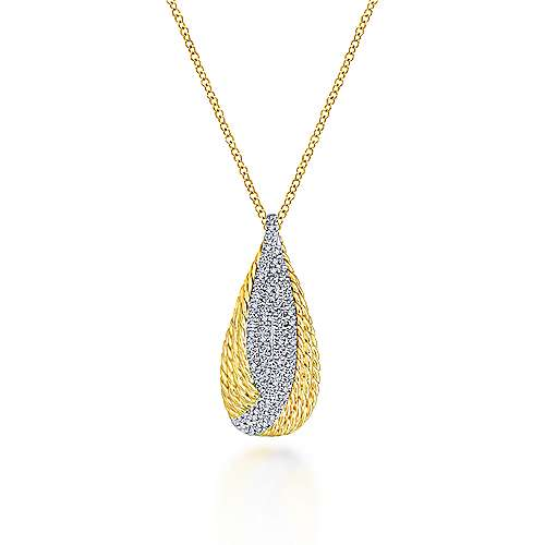 14k Yellow And White Gold Hampton Fashion Necklace angle 1