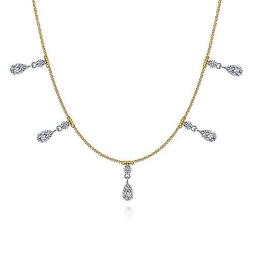 14k Yellow And White Gold Lusso Choker Necklace
