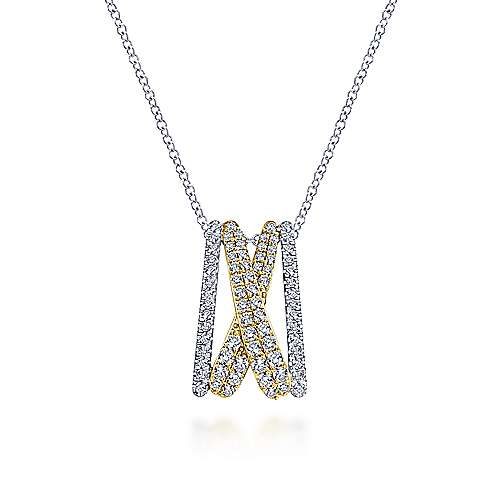 Gabriel - 14k Yellow And White Gold Lusso Fashion Necklace