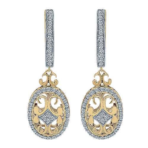 Gabriel - 14k Yellow And White Gold Mediterranean Drop Earrings