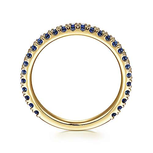 14k Yellow Gold  And Sapphire Stackable Ladies