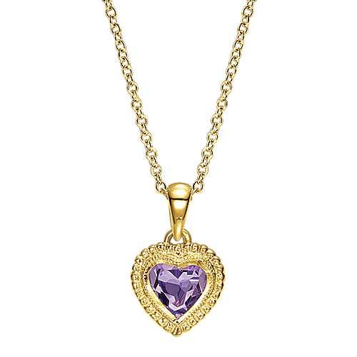 Gabriel - 14k Yellow Gold Secret Garden Heart Necklace