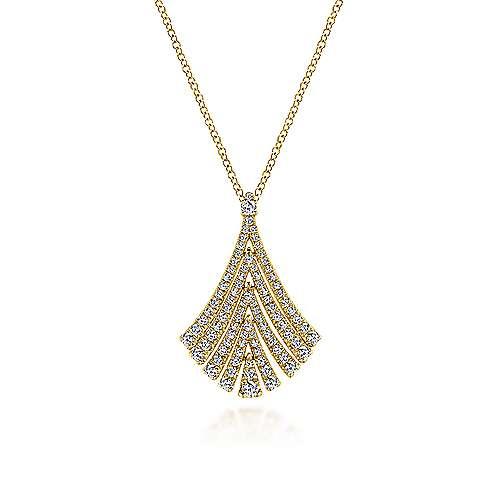 Gabriel - 14k Yellow Gold Art Moderne Fashion Necklace