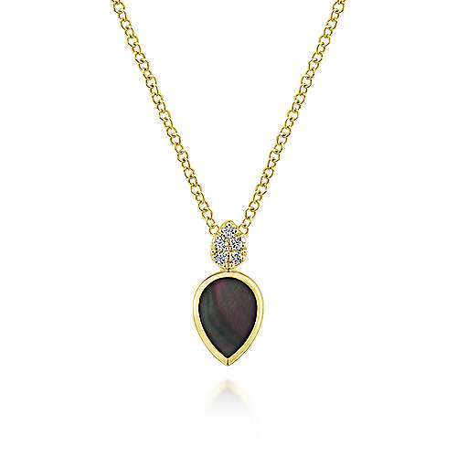 14k Yellow Gold Art Moderne Fashion Necklace angle 1