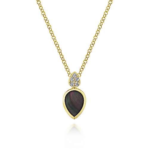 14k Yellow Gold Art Moderne Fashion Necklace