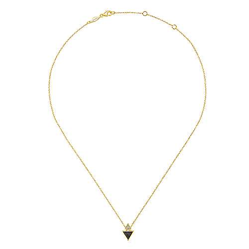 14k Yellow Gold Art Moderne Fashion Necklace angle 2