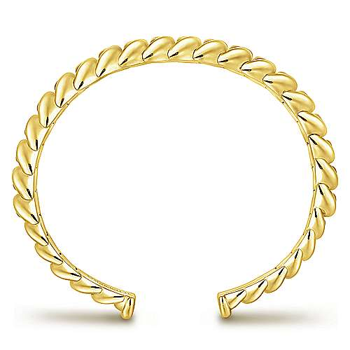 14k Yellow Gold Bangle angle 3