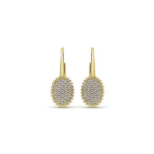 Gabriel - 14k Yellow Gold Bombay Drop Earrings