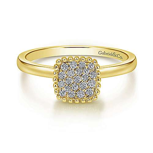 Gabriel - 14k Yellow Gold Bombay Fashion Ladies' Ring