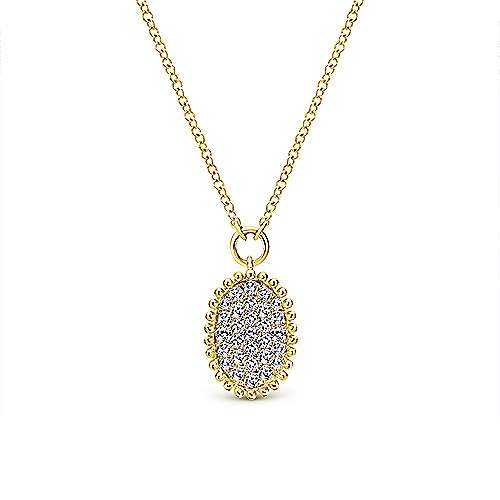 Gabriel - 14k Yellow Gold Bombay Fashion Necklace