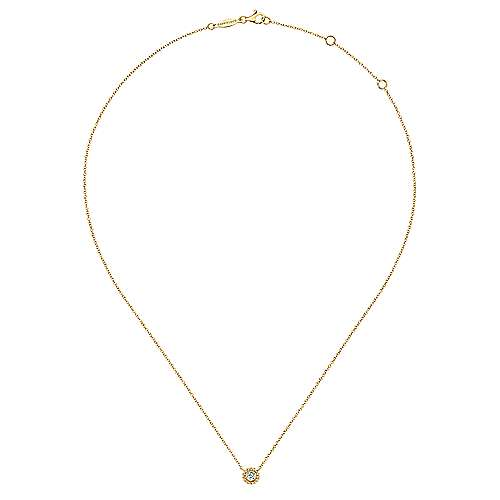14k Yellow Gold Bombay Fashion Necklace angle 2