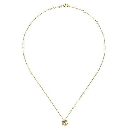 14k Yellow Gold Bombay Fashion Necklace angle 2