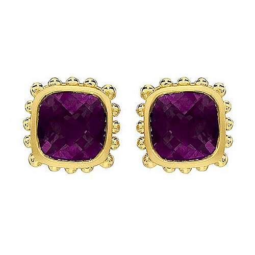 Gabriel - 14k Yellow Gold Bombay Stud Earrings