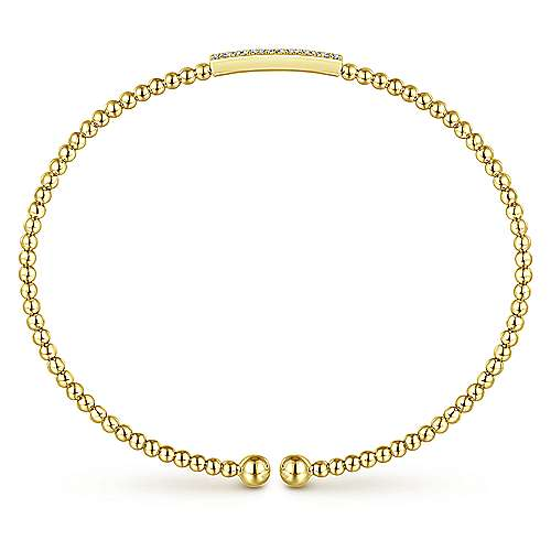 14k Yellow Gold Bujukan Bangle angle 3
