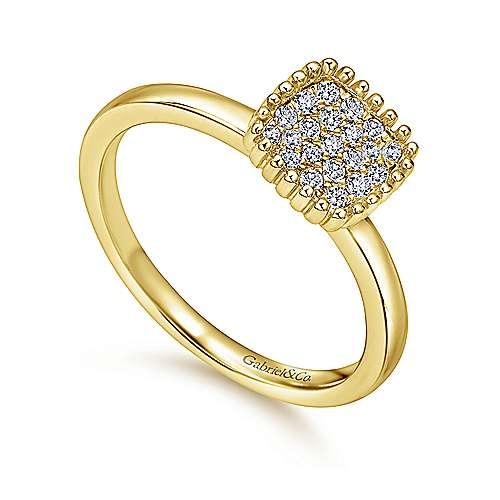 14k Yellow Gold Bujukan Fashion Ladies' Ring angle 3