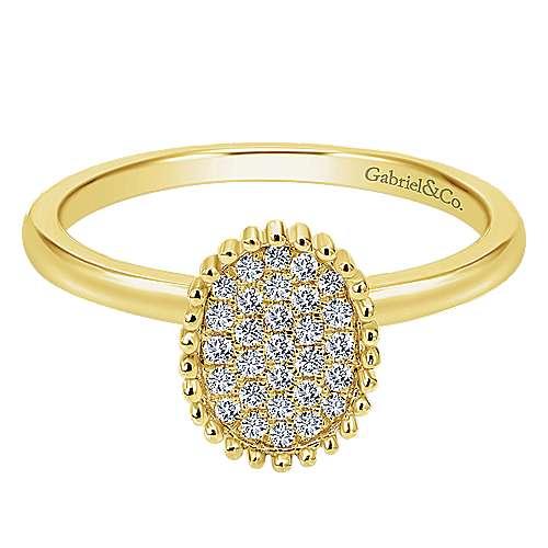 14k Yellow Gold Bujukan Fashion Ladies' Ring angle 1