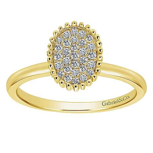 14k Yellow Gold Bujukan Fashion Ladies' Ring angle 4