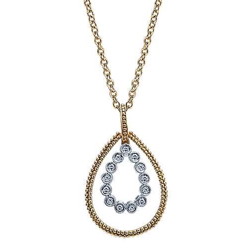 Gabriel - 14k Yellow Gold Bujukan Fashion Necklace