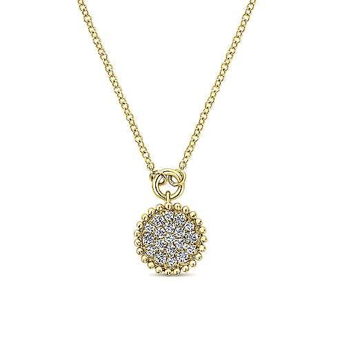 14k Yellow Gold Bujukan Fashion Necklace angle 1
