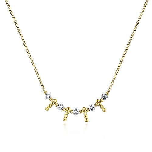 14k Yellow Gold Bujukan Fashion Necklace angle 1