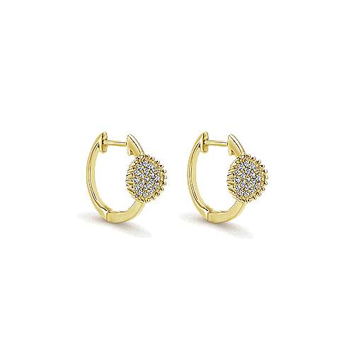 Gabriel - 14k Yellow Gold Bujukan Huggie Earrings