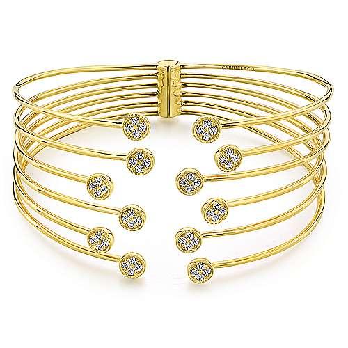 Gabriel - 14k Yellow Gold Byblos Bangle