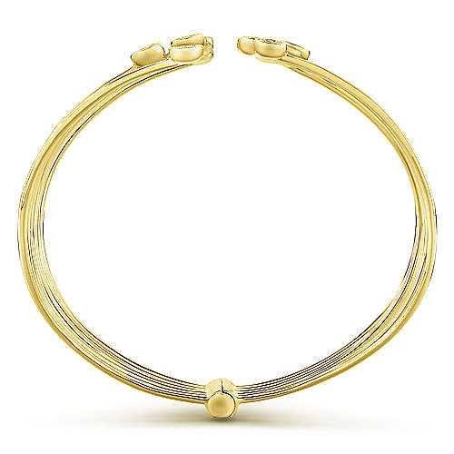 14k Yellow Gold Byblos Bangle angle 3