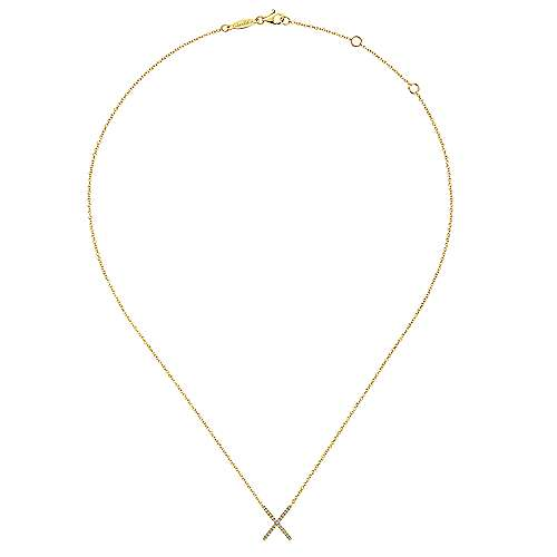 14k Yellow Gold Care Collection Fashion Necklace angle 2