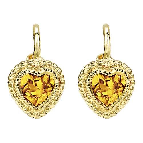 Gabriel - 14k Yellow Gold Secret Garden Drop Earrings