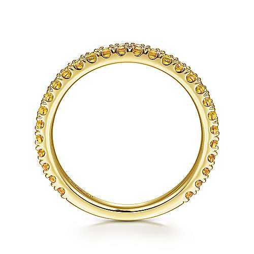 14k Yellow Gold Citrine Stackable Ladies