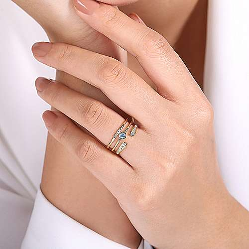 14k Yellow Gold Constellations Fashion Ladies' Ring angle 5