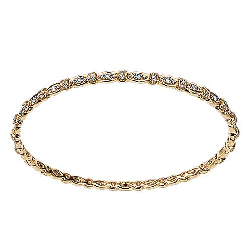 Gabriel - 14k Yellow Gold Contemporary Bangle