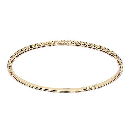 14k Yellow Gold Contemporary Bangle angle 1
